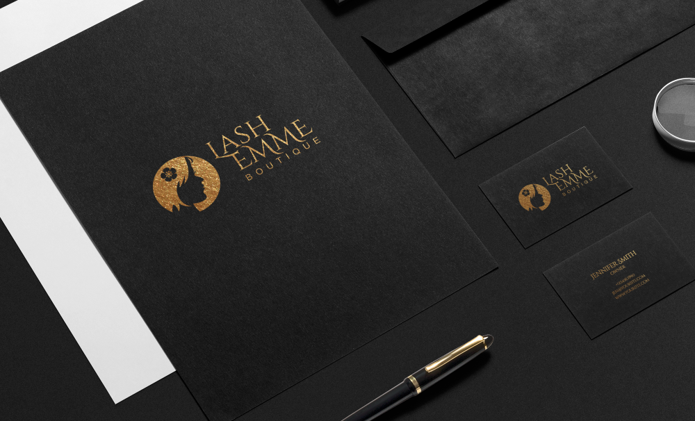 Black and Gold Stationary Design