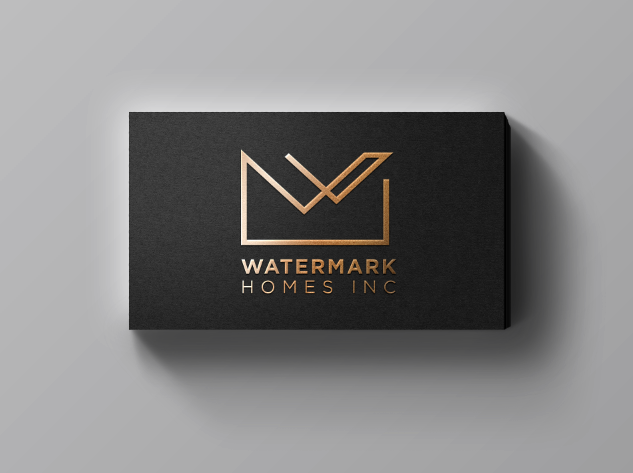 gold Letterpress luxury logo