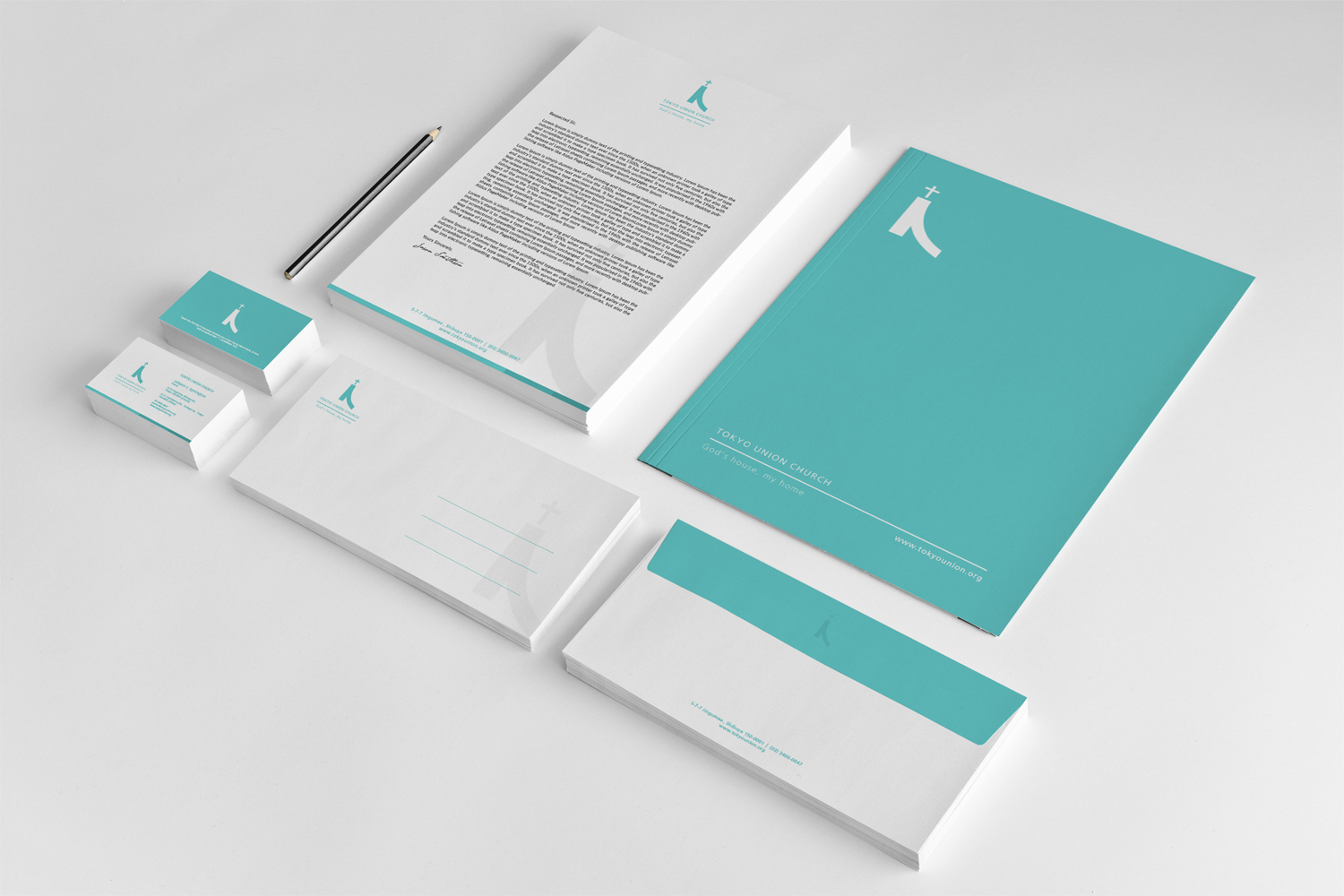 Turquoise Minimal Corporate Stationary Design
