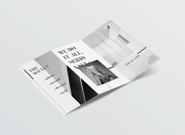 Black and White Minimal Modern Brochure Design