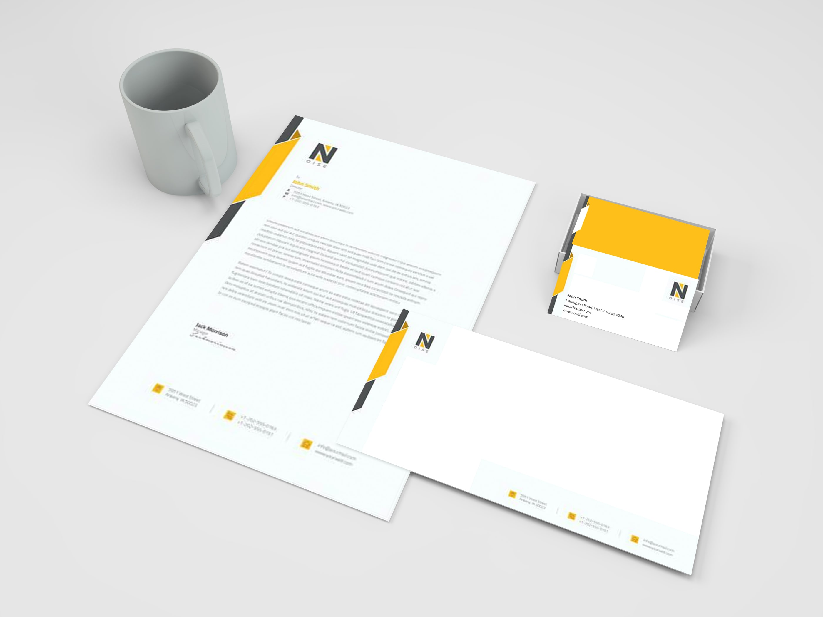 Business card stationary design