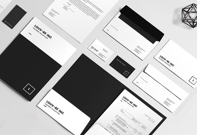 Modern branding stationary design