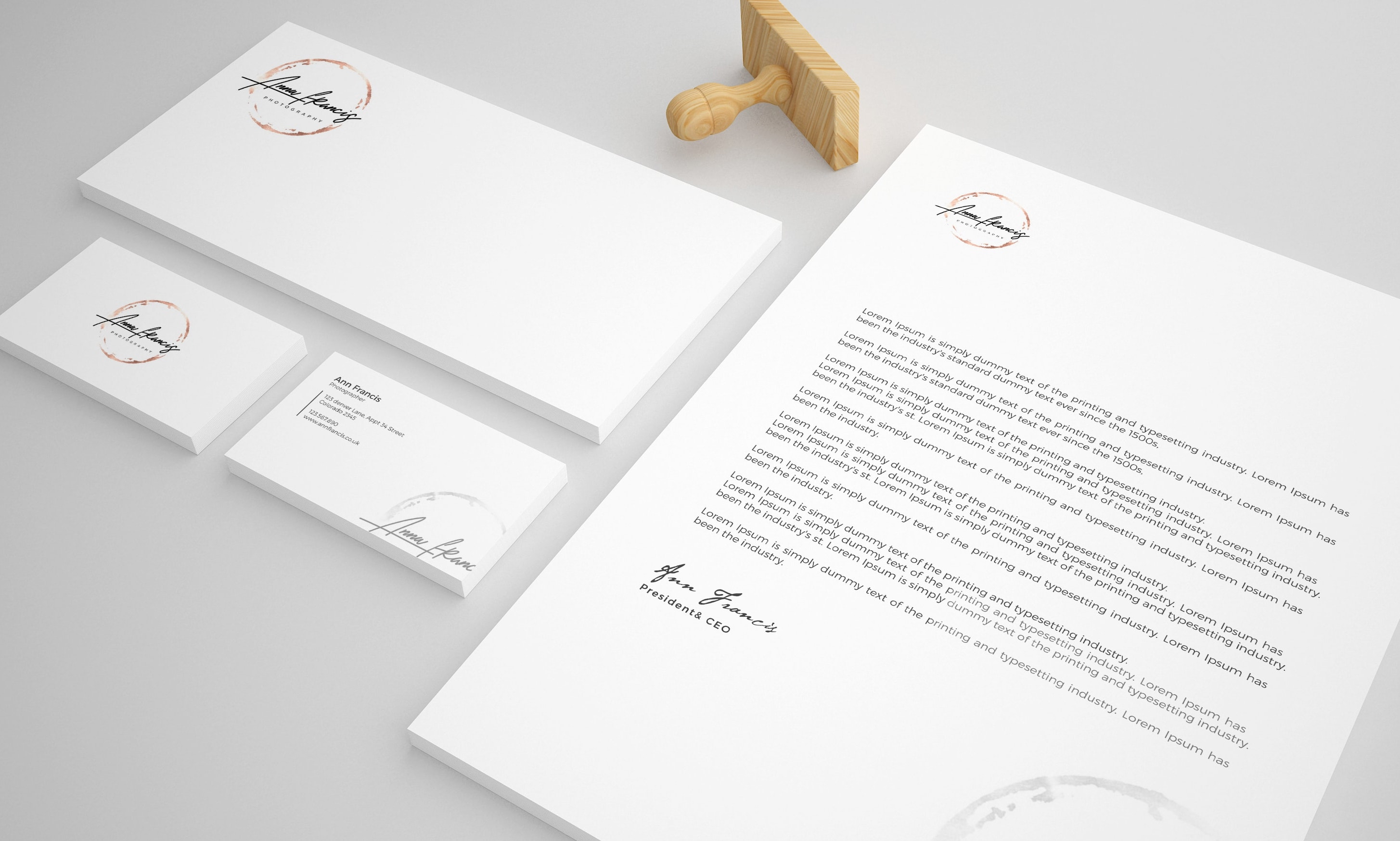 Modern Stationery Design with Business Card